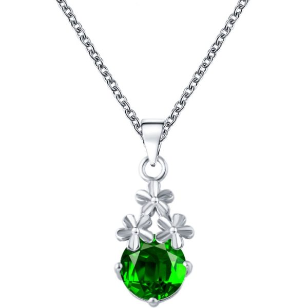 najlacnejšia bižutéria - náhrdelník - lacná bižutéria - bižutéria náušnice - bižutéria náhrdelníky - lacna bizuteria - swarovski sety - swarovsi náhrdelník - najlacnejšia bižutéria - swarovski set - doplnky na stužkovú - šperky sety - šperky z chirurgickej ocele - bižutéria sety - bižutéria náhrdelníky - darček na stužkovú - šperky na stužkovú - set náhrdelník náušnice - Náhrdelník Aimé-Str./Zelená KP3065