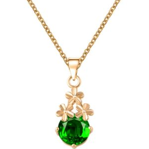 najlacnejšia bižutéria - náhrdelník - lacná bižutéria - bižutéria náušnice - bižutéria náhrdelníky - lacna bizuteria - swarovski sety - swarovsi náhrdelník - najlacnejšia bižutéria - swarovski set - doplnky na stužkovú - šperky sety - šperky z chirurgickej ocele - bižutéria sety - bižutéria náhrdelníky - darček na stužkovú - šperky na stužkovú - set náhrdelník náušnice - Náhrdelník Aimé-Zlatá/Zelená KP3067