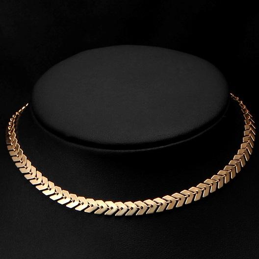 najlacnejšia bižutéria - náhrdelník - lacná bižutéria - bižutéria náušnice - bižutéria náhrdelníky - lacna bizuteria - swarovski sety - swarovsi náhrdelník - najlacnejšia bižutéria - swarovski set - doplnky na stužkovú - šperky sety - šperky z chirurgickej ocele - bižutéria sety - bižutéria náhrdelníky - darček na stužkovú - šperky na stužkovú - set náhrdelník náušnice - Náhrdelník Modern-Zlatá KP2782