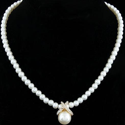 najlacnejšia bižutéria - náhrdelník - lacná bižutéria - bižutéria náušnice - bižutéria náhrdelníky - lacna bizuteria - swarovski sety - swarovsi náhrdelník - najlacnejšia bižutéria - swarovski set - doplnky na stužkovú - šperky sety - šperky z chirurgickej ocele - bižutéria sety - bižutéria náhrdelníky - darček na stužkovú - šperky na stužkovú - set náhrdelník náušnice - Náhrdelník Pearl Julie-Zlatá KP2776