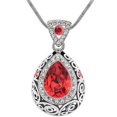najlacnejšia bižutéria - náhrdelník - lacná bižutéria - bižutéria náušnice - bižutéria náhrdelníky - lacna bizuteria - swarovski sety - swarovsi náhrdelník - najlacnejšia bižutéria - swarovski set - doplnky na stužkovú - šperky sety - šperky z chirurgickej ocele - bižutéria sety - bižutéria náhrdelníky - darček na stužkovú - šperky na stužkovú - set náhrdelník náušnice - Náhrdelník Adalia-Červená KP2625