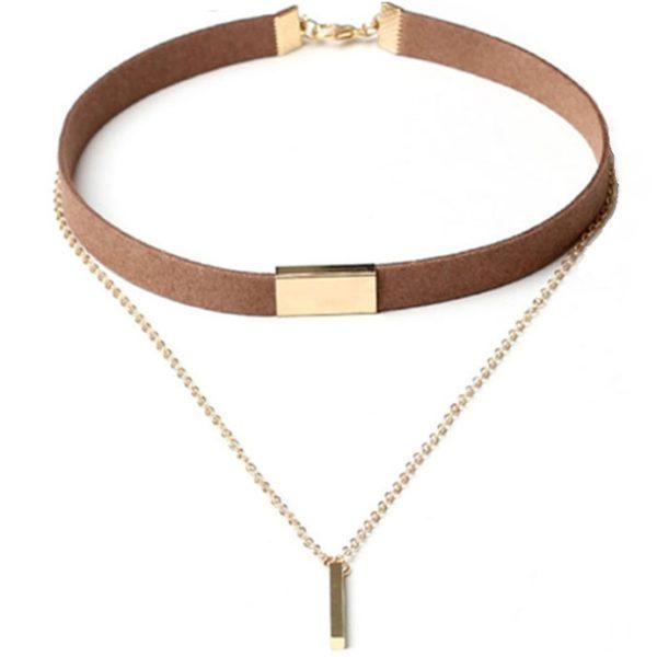 najlacnejšia bižutéria - náhrdelník - lacná bižutéria - bižutéria náušnice - bižutéria náhrdelníky - lacna bizuteria - swarovski sety - swarovsi náhrdelník - najlacnejšia bižutéria - swarovski set - doplnky na stužkovú - šperky sety - šperky z chirurgickej ocele - bižutéria sety - bižutéria náhrdelníky - darček na stužkovú - šperky na stužkovú - set náhrdelník náušnice - Náhrdelník Show-Hnedá KP2633