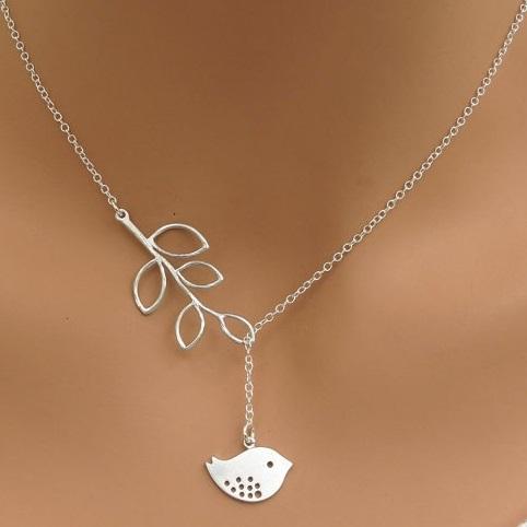 najlacnejšia bižutéria - náhrdelník - lacná bižutéria - bižutéria náušnice - bižutéria náhrdelníky - lacna bizuteria - swarovski sety - swarovsi náhrdelník - najlacnejšia bižutéria - swarovski set - doplnky na stužkovú - šperky sety - šperky z chirurgickej ocele - bižutéria sety - bižutéria náhrdelníky - darček na stužkovú - šperky na stužkovú - set náhrdelník náušnice - Náhrdelník Twig-Strieborná KP2703
