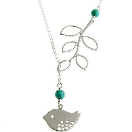 najlacnejšia bižutéria - náhrdelník - lacná bižutéria - bižutéria náušnice - bižutéria náhrdelníky - lacna bizuteria - swarovski sety - swarovsi náhrdelník - najlacnejšia bižutéria - swarovski set - doplnky na stužkovú - šperky sety - šperky z chirurgickej ocele - bižutéria sety - bižutéria náhrdelníky - darček na stužkovú - šperky na stužkovú - set náhrdelník náušnice - Náhrdelník Twig-Tyrkysová KP2704