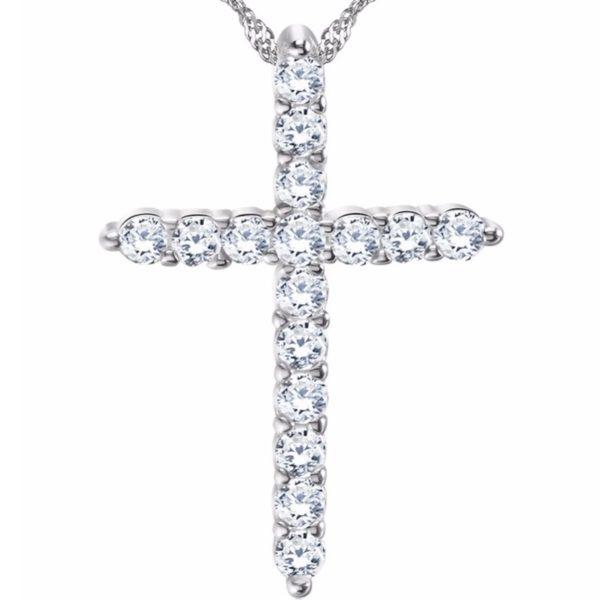 najlacnejšia bižutéria - náhrdelník - lacná bižutéria - bižutéria náušnice - bižutéria náhrdelníky - lacna bizuteria - swarovski sety - swarovsi náhrdelník - najlacnejšia bižutéria - swarovski set - doplnky na stužkovú - šperky sety - šperky z chirurgickej ocele - bižutéria sety - bižutéria náhrdelníky - darček na stužkovú - šperky na stužkovú - set náhrdelník náušnice - Náhrdelník Krížik-Strieborná KP2455