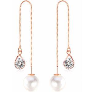 lacna bizuteria - najlacnejšia bižutéria - doplnky na stužkovú - šperky sety - šperky z chirurgickej ocele - darček na stužkovú - šperky na stužkovú - Náušnice Cute Pearl-Zlatá/Typ2 KP2641