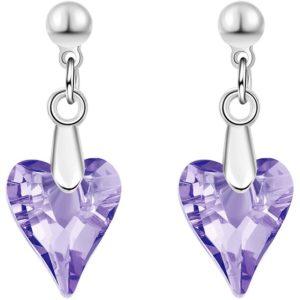 lacna bizuteria - najlacnejšia bižutéria - doplnky na stužkovú - šperky sety - šperky z chirurgickej ocele - darček na stužkovú - šperky na stužkovú - Náušnice Flinstone-Fialová KP3388