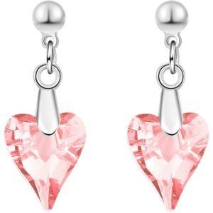 lacna bizuteria - najlacnejšia bižutéria - doplnky na stužkovú - šperky sety - šperky z chirurgickej ocele - darček na stužkovú - šperky na stužkovú - Náušnice Flinstone-Ružová KP3389