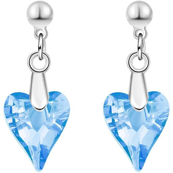 lacna bizuteria - najlacnejšia bižutéria - doplnky na stužkovú - šperky sety - šperky z chirurgickej ocele - darček na stužkovú - šperky na stužkovú - Náušnice Flinstone-Tyrkysová KP3390