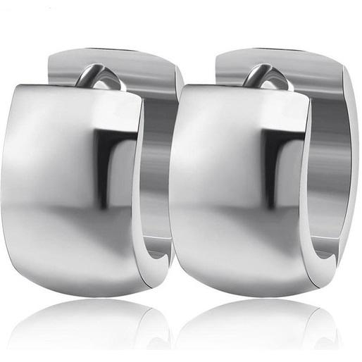 lacna bizuteria - najlacnejšia bižutéria - doplnky na stužkovú - šperky sety - šperky z chirurgickej ocele - darček na stužkovú - šperky na stužkovú - Náušnice Krúžok-Strieborná KP2445