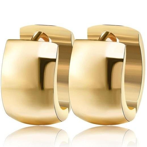 lacna bizuteria - najlacnejšia bižutéria - doplnky na stužkovú - šperky sety - šperky z chirurgickej ocele - darček na stužkovú - šperky na stužkovú - Náušnice Krúžok-Zlatá KP2446