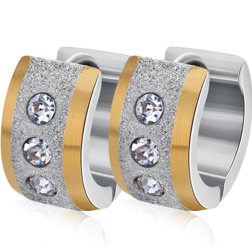 lacna bizuteria - najlacnejšia bižutéria - doplnky na stužkovú - šperky sety - šperky z chirurgickej ocele - darček na stužkovú - šperky na stužkovú - Náušnice Lana-Str./Zlatá KP2433