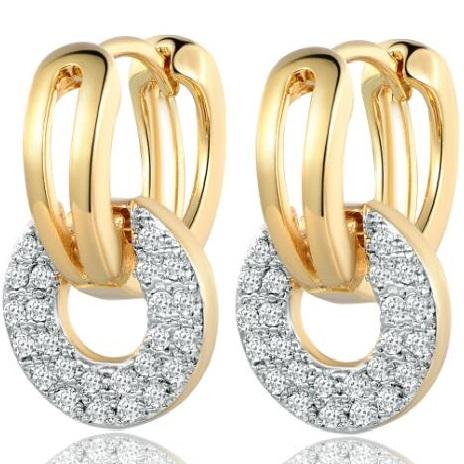 lacna bizuteria - najlacnejšia bižutéria - doplnky na stužkovú - šperky sety - šperky z chirurgickej ocele - darček na stužkovú - šperky na stužkovú - Náušnice Maisie DELICATE-Zlatá KP3459