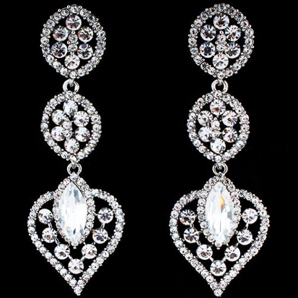 lacna bizuteria - najlacnejšia bižutéria - doplnky na stužkovú - šperky sety - šperky z chirurgickej ocele - darček na stužkovú - šperky na stužkovú - Náušnice Nisrin-Str./Kryštálová KP3356