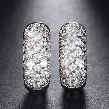lacna bizuteria - najlacnejšia bižutéria - doplnky na stužkovú - šperky sety - šperky z chirurgickej ocele - darček na stužkovú - šperky na stužkovú - Náušnice Queen Luxury-Strieborná KP2437