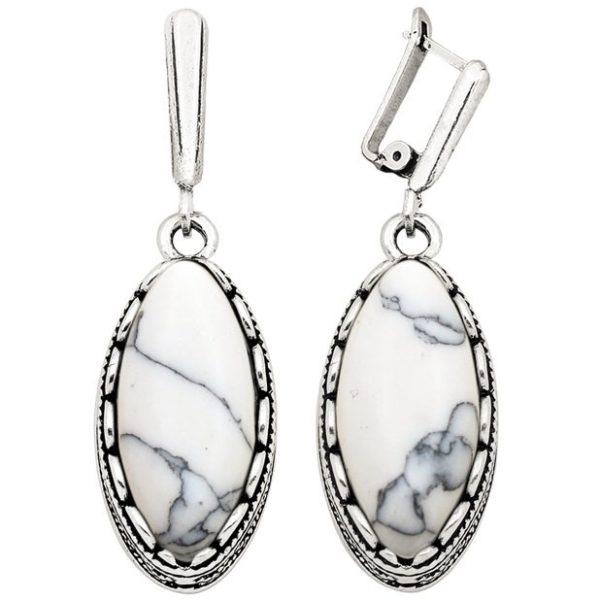 lacna bizuteria - najlacnejšia bižutéria - doplnky na stužkovú - šperky sety - šperky z chirurgickej ocele - darček na stužkovú - šperky na stužkovú - Náušnice Vintage Craft - Biela KP1868