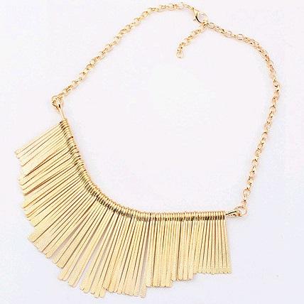 najlacnejšia bižutéria - náhrdelník - lacná bižutéria - bižutéria náušnice - bižutéria náhrdelníky - lacna bizuteria - swarovski sety - swarovsi náhrdelník - najlacnejšia bižutéria - swarovski set - doplnky na stužkovú - šperky sety - šperky z chirurgickej ocele - bižutéria sety - bižutéria náhrdelníky - darček na stužkovú - šperky na stužkovú - set náhrdelník náušnice - Náhrdelník Pestle - Zlatá KP2147