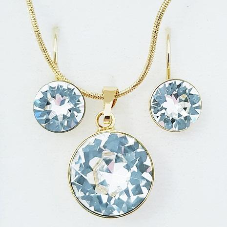 najlacnejšia bižutéria - náhrdelník - lacná bižutéria - bižutéria náušnice - bižutéria náhrdelníky - lacna bizuteria - swarovski sety - swarovsi náhrdelník - najlacnejšia bižutéria - swarovski set - doplnky na stužkovú - šperky sety - šperky z chirurgickej ocele - bižutéria sety - bižutéria náhrdelníky - darček na stužkovú - šperky na stužkovú - set náhrdelník náušnice - Set Round SWAROVSKI-Zlatá/Kryštálová KP4405