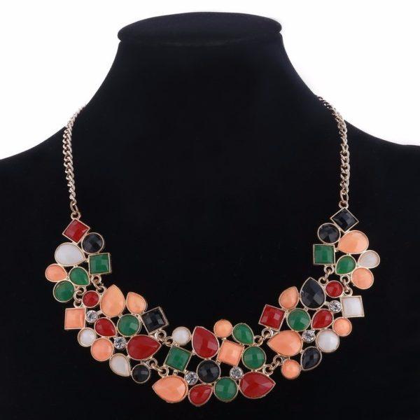 najlacnejšia bižutéria - náhrdelník - lacná bižutéria - bižutéria náušnice - bižutéria náhrdelníky - lacna bizuteria - swarovski sety - swarovsi náhrdelník - najlacnejšia bižutéria - swarovski set - doplnky na stužkovú - šperky sety - šperky z chirurgickej ocele - bižutéria sety - bižutéria náhrdelníky - darček na stužkovú - šperky na stužkovú - set náhrdelník náušnice - Náhrdelník Stones-Multi KP3550