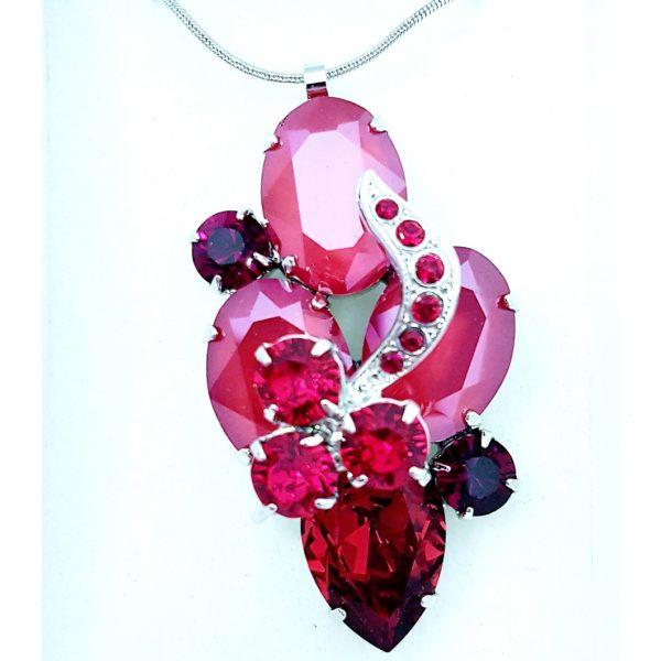 najlacnejšia bižutéria - náhrdelník - lacná bižutéria - bižutéria náušnice - bižutéria náhrdelníky - lacna bizuteria - swarovski sety - swarovsi náhrdelník - najlacnejšia bižutéria - swarovski set - doplnky na stužkovú - šperky sety - šperky z chirurgickej ocele - bižutéria sety - bižutéria náhrdelníky - darček na stužkovú - šperky na stužkovú - set náhrdelník náušnice - Náhrdelník Aloisia SWAROVSKI-Červená KP4714