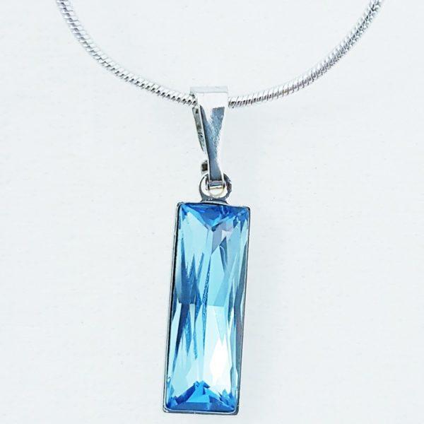 najlacnejšia bižutéria - náhrdelník - lacná bižutéria - bižutéria náušnice - bižutéria náhrdelníky - lacna bizuteria - swarovski sety - swarovsi náhrdelník - najlacnejšia bižutéria - swarovski set - doplnky na stužkovú - šperky sety - šperky z chirurgickej ocele - bižutéria sety - bižutéria náhrdelníky - darček na stužkovú - šperky na stužkovú - set náhrdelník náušnice - Náhrdelník Amata SWAROVSKI-Sl.Modrá KP4718