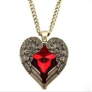 najlacnejšia bižutéria - náhrdelník - lacná bižutéria - bižutéria náušnice - bižutéria náhrdelníky - lacna bizuteria - swarovski sety - swarovsi náhrdelník - najlacnejšia bižutéria - swarovski set - doplnky na stužkovú - šperky sety - šperky z chirurgickej ocele - bižutéria sety - bižutéria náhrdelníky - darček na stužkovú - šperky na stužkovú - set náhrdelník náušnice - Náhrdelník Angel Heart-Červená KP393