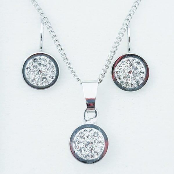 najlacnejšia bižutéria - náhrdelník - lacná bižutéria - bižutéria náušnice - bižutéria náhrdelníky - lacna bizuteria - swarovski sety - swarovsi náhrdelník - najlacnejšia bižutéria - swarovski set - doplnky na stužkovú - šperky sety - šperky z chirurgickej ocele - bižutéria sety - bižutéria náhrdelníky - darček na stužkovú - šperky na stužkovú - set náhrdelník náušnice - Set Anke SWAROVSKI-Strieborná KP4741