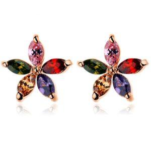 lacna bizuteria - najlacnejšia bižutéria - doplnky na stužkovú - šperky sety - šperky z chirurgickej ocele - darček na stužkovú - šperky na stužkovú - Náušnice Asterisk Bamoer-Multi KP253