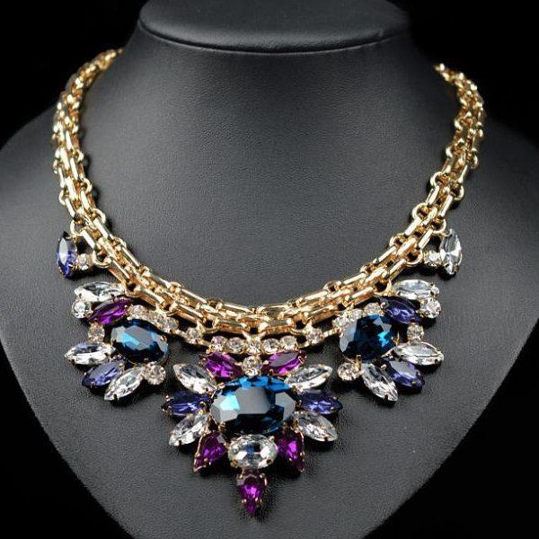 najlacnejšia bižutéria - náhrdelník - lacná bižutéria - bižutéria náušnice - bižutéria náhrdelníky - lacna bizuteria - swarovski sety - swarovsi náhrdelník - najlacnejšia bižutéria - swarovski set - doplnky na stužkovú - šperky sety - šperky z chirurgickej ocele - bižutéria sety - bižutéria náhrdelníky - darček na stužkovú - šperky na stužkovú - set náhrdelník náušnice - Náhrdelník Bamoer Majestic-Multi KP408