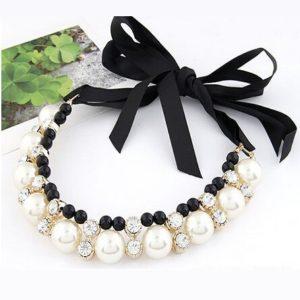najlacnejšia bižutéria - náhrdelník - lacná bižutéria - bižutéria náušnice - bižutéria náhrdelníky - lacna bizuteria - swarovski sety - swarovsi náhrdelník - najlacnejšia bižutéria - swarovski set - doplnky na stužkovú - šperky sety - šperky z chirurgickej ocele - bižutéria sety - bižutéria náhrdelníky - darček na stužkovú - šperky na stužkovú - set náhrdelník náušnice - Náhrdelník Big Crystal Pearl KP693