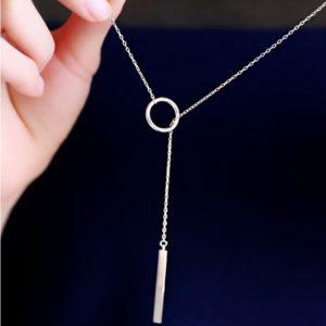 najlacnejšia bižutéria - náhrdelník - lacná bižutéria - bižutéria náušnice - bižutéria náhrdelníky - lacna bizuteria - swarovski sety - swarovsi náhrdelník - najlacnejšia bižutéria - swarovski set - doplnky na stužkovú - šperky sety - šperky z chirurgickej ocele - bižutéria sety - bižutéria náhrdelníky - darček na stužkovú - šperky na stužkovú - set náhrdelník náušnice - Náhrdelník Bijoux Elegant-Strieborná KP4770