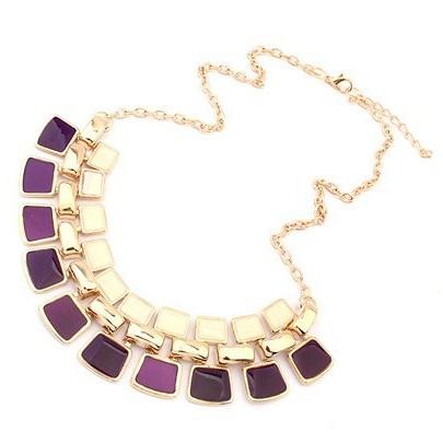 najlacnejšia bižutéria - náhrdelník - lacná bižutéria - bižutéria náušnice - bižutéria náhrdelníky - lacna bizuteria - swarovski sety - swarovsi náhrdelník - najlacnejšia bižutéria - swarovski set - doplnky na stužkovú - šperky sety - šperky z chirurgickej ocele - bižutéria sety - bižutéria náhrdelníky - darček na stužkovú - šperky na stužkovú - set náhrdelník náušnice - Náhrdelník Bohemia Charm - Fialová KP696