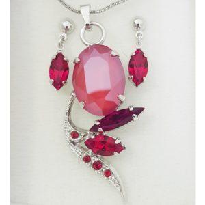najlacnejšia bižutéria - náhrdelník - lacná bižutéria - bižutéria náušnice - bižutéria náhrdelníky - lacna bizuteria - swarovski sety - swarovsi náhrdelník - najlacnejšia bižutéria - swarovski set - doplnky na stužkovú - šperky sety - šperky z chirurgickej ocele - bižutéria sety - bižutéria náhrdelníky - darček na stužkovú - šperky na stužkovú - set náhrdelník náušnice - Set Brigita SWAROVSKI-Červená KP4763