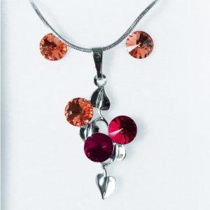 najlacnejšia bižutéria - náhrdelník - lacná bižutéria - bižutéria náušnice - bižutéria náhrdelníky - lacna bizuteria - swarovski sety - swarovsi náhrdelník - najlacnejšia bižutéria - swarovski set - doplnky na stužkovú - šperky sety - šperky z chirurgickej ocele - bižutéria sety - bižutéria náhrdelníky - darček na stužkovú - šperky na stužkovú - set náhrdelník náušnice - Set Carla SWAROVSKI-Str./Ružová KP3902