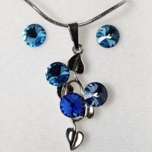 najlacnejšia bižutéria - náhrdelník - lacná bižutéria - bižutéria náušnice - bižutéria náhrdelníky - lacna bizuteria - swarovski sety - swarovsi náhrdelník - najlacnejšia bižutéria - swarovski set - doplnky na stužkovú - šperky sety - šperky z chirurgickej ocele - bižutéria sety - bižutéria náhrdelníky - darček na stužkovú - šperky na stužkovú - set náhrdelník náušnice - Set Carla SWAROVSKI-Str./Modrá KP3904