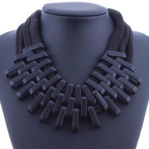 najlacnejšia bižutéria - náhrdelník - lacná bižutéria - bižutéria náušnice - bižutéria náhrdelníky - lacna bizuteria - swarovski sety - swarovsi náhrdelník - najlacnejšia bižutéria - swarovski set - doplnky na stužkovú - šperky sety - šperky z chirurgickej ocele - bižutéria sety - bižutéria náhrdelníky - darček na stužkovú - šperky na stužkovú - set náhrdelník náušnice - Náhrdelník Claw-Čierna KP4469