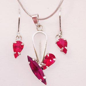 najlacnejšia bižutéria - náhrdelník - lacná bižutéria - bižutéria náušnice - bižutéria náhrdelníky - lacna bizuteria - swarovski sety - swarovsi náhrdelník - najlacnejšia bižutéria - swarovski set - doplnky na stužkovú - šperky sety - šperky z chirurgickej ocele - bižutéria sety - bižutéria náhrdelníky - darček na stužkovú - šperky na stužkovú - set náhrdelník náušnice - Set Daria SWAROVSKI-Str./Červená KP3898