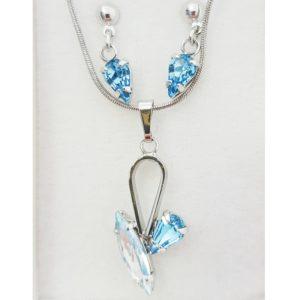 najlacnejšia bižutéria - náhrdelník - lacná bižutéria - bižutéria náušnice - bižutéria náhrdelníky - lacna bizuteria - swarovski sety - swarovsi náhrdelník - najlacnejšia bižutéria - swarovski set - doplnky na stužkovú - šperky sety - šperky z chirurgickej ocele - bižutéria sety - bižutéria náhrdelníky - darček na stužkovú - šperky na stužkovú - set náhrdelník náušnice - Set Daria SWAROVSKI-Str./Modrá KP3900
