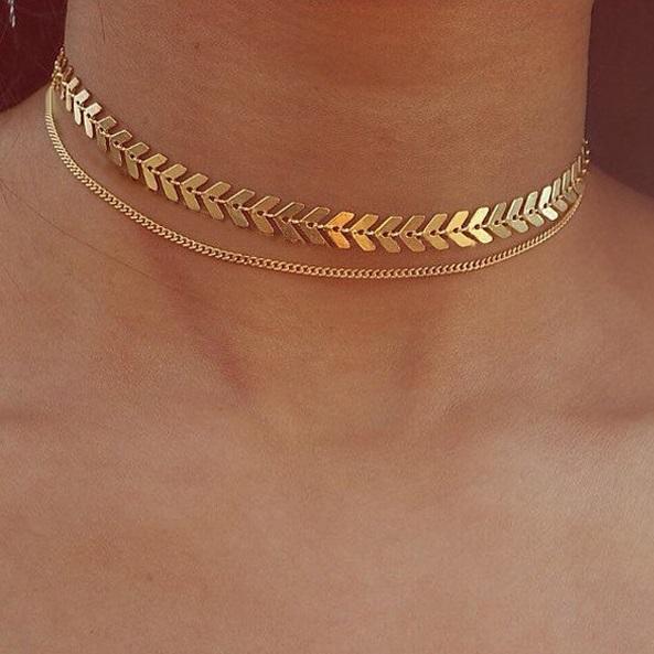 najlacnejšia bižutéria - náhrdelník - lacná bižutéria - bižutéria náušnice - bižutéria náhrdelníky - lacna bizuteria - swarovski sety - swarovsi náhrdelník - najlacnejšia bižutéria - swarovski set - doplnky na stužkovú - šperky sety - šperky z chirurgickej ocele - bižutéria sety - bižutéria náhrdelníky - darček na stužkovú - šperky na stužkovú - set náhrdelník náušnice - Náhrdelník Duo Modern-Zlatá KP5142