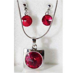 najlacnejšia bižutéria - náhrdelník - lacná bižutéria - bižutéria náušnice - bižutéria náhrdelníky - lacna bizuteria - swarovski sety - swarovsi náhrdelník - najlacnejšia bižutéria - swarovski set - doplnky na stužkovú - šperky sety - šperky z chirurgickej ocele - bižutéria sety - bižutéria náhrdelníky - darček na stužkovú - šperky na stužkovú - set náhrdelník náušnice - Set Emily SWAROVSKI-Str./Červená KP3938