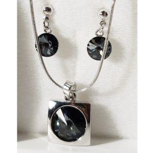 najlacnejšia bižutéria - náhrdelník - lacná bižutéria - bižutéria náušnice - bižutéria náhrdelníky - lacna bizuteria - swarovski sety - swarovsi náhrdelník - najlacnejšia bižutéria - swarovski set - doplnky na stužkovú - šperky sety - šperky z chirurgickej ocele - bižutéria sety - bižutéria náhrdelníky - darček na stužkovú - šperky na stužkovú - set náhrdelník náušnice - Set Emily SWAROVSKI-Str./Čierna KP3937