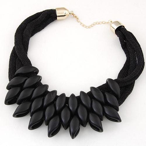 najlacnejšia bižutéria - náhrdelník - lacná bižutéria - bižutéria náušnice - bižutéria náhrdelníky - lacna bizuteria - swarovski sety - swarovsi náhrdelník - najlacnejšia bižutéria - swarovski set - doplnky na stužkovú - šperky sety - šperky z chirurgickej ocele - bižutéria sety - bižutéria náhrdelníky - darček na stužkovú - šperky na stužkovú - set náhrdelník náušnice - Náhrdelník Foetus - Čierna tmavá KP1462