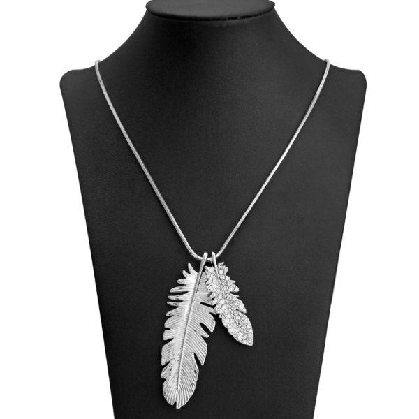 najlacnejšia bižutéria - náhrdelník - lacná bižutéria - bižutéria náušnice - bižutéria náhrdelníky - lacna bizuteria - swarovski sety - swarovsi náhrdelník - najlacnejšia bižutéria - swarovski set - doplnky na stužkovú - šperky sety - šperky z chirurgickej ocele - bižutéria sety - bižutéria náhrdelníky - darček na stužkovú - šperky na stužkovú - set náhrdelník náušnice - Náhrdelník Foliage-Strieborná KP4199