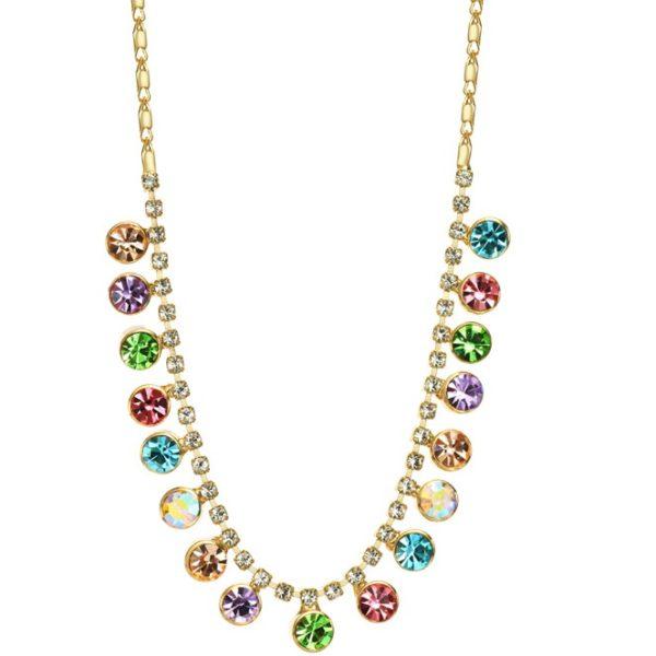 najlacnejšia bižutéria - náhrdelník - lacná bižutéria - bižutéria náušnice - bižutéria náhrdelníky - lacna bizuteria - swarovski sety - swarovsi náhrdelník - najlacnejšia bižutéria - swarovski set - doplnky na stužkovú - šperky sety - šperky z chirurgickej ocele - bižutéria sety - bižutéria náhrdelníky - darček na stužkovú - šperky na stužkovú - set náhrdelník náušnice - Náhrdelník Glory Rainbow KP1943