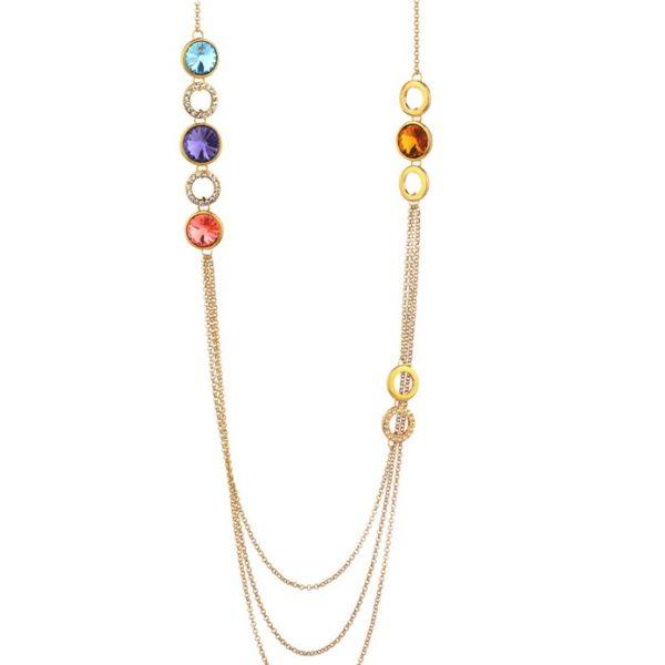 najlacnejšia bižutéria - náhrdelník - lacná bižutéria - bižutéria náušnice - bižutéria náhrdelníky - lacna bizuteria - swarovski sety - swarovsi náhrdelník - najlacnejšia bižutéria - swarovski set - doplnky na stužkovú - šperky sety - šperky z chirurgickej ocele - bižutéria sety - bižutéria náhrdelníky - darček na stužkovú - šperky na stužkovú - set náhrdelník náušnice - Náhrdelník Glory Tripple - Multi KP1929