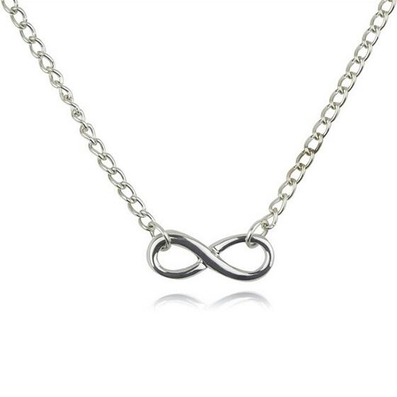 najlacnejšia bižutéria - náhrdelník - lacná bižutéria - bižutéria náušnice - bižutéria náhrdelníky - lacna bizuteria - swarovski sety - swarovsi náhrdelník - najlacnejšia bižutéria - swarovski set - doplnky na stužkovú - šperky sety - šperky z chirurgickej ocele - bižutéria sety - bižutéria náhrdelníky - darček na stužkovú - šperky na stužkovú - set náhrdelník náušnice - Náhrdelník Infinite Chain - Strieborná KP1683