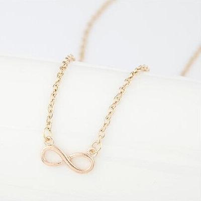 najlacnejšia bižutéria - náhrdelník - lacná bižutéria - bižutéria náušnice - bižutéria náhrdelníky - lacna bizuteria - swarovski sety - swarovsi náhrdelník - najlacnejšia bižutéria - swarovski set - doplnky na stužkovú - šperky sety - šperky z chirurgickej ocele - bižutéria sety - bižutéria náhrdelníky - darček na stužkovú - šperky na stužkovú - set náhrdelník náušnice - Náhrdelník Infinite Chain - Zlatá KP1682