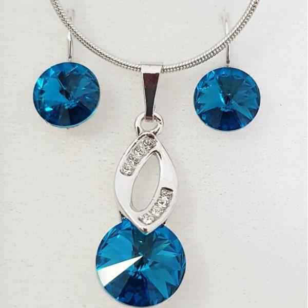 najlacnejšia bižutéria - náhrdelník - lacná bižutéria - bižutéria náušnice - bižutéria náhrdelníky - lacna bizuteria - swarovski sety - swarovsi náhrdelník - najlacnejšia bižutéria - swarovski set - doplnky na stužkovú - šperky sety - šperky z chirurgickej ocele - bižutéria sety - bižutéria náhrdelníky - darček na stužkovú - šperky na stužkovú - set náhrdelník náušnice - Set Isalde SWAROVSKI-Tyrkysová KP4753