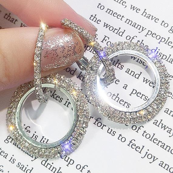 lacna bizuteria - najlacnejšia bižutéria - doplnky na stužkovú - šperky sety - šperky z chirurgickej ocele - darček na stužkovú - šperky na stužkovú - Náušnice Kreise-Strieborná KP5058