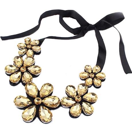 najlacnejšia bižutéria - náhrdelník - lacná bižutéria - bižutéria náušnice - bižutéria náhrdelníky - lacna bizuteria - swarovski sety - swarovsi náhrdelník - najlacnejšia bižutéria - swarovski set - doplnky na stužkovú - šperky sety - šperky z chirurgickej ocele - bižutéria sety - bižutéria náhrdelníky - darček na stužkovú - šperky na stužkovú - set náhrdelník náušnice - Náhrdelník Majesty Flower - Hnedá KP1260